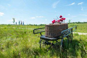 natuurbegraafplaats rouwkoets mand